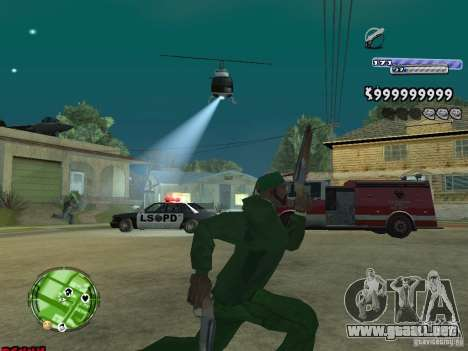 C-HUD v2.0 para GTA San Andreas sucesivamente de pantalla