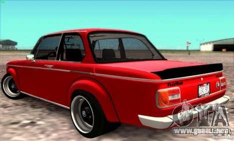 BMW 2002 Turbo para la visión correcta GTA San Andreas