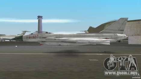 J-10 para GTA Vice City vista lateral izquierdo