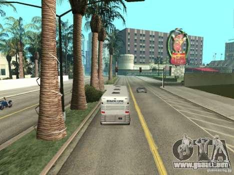 Línea de autobús en Las Venturas para GTA San Andreas octavo de pantalla