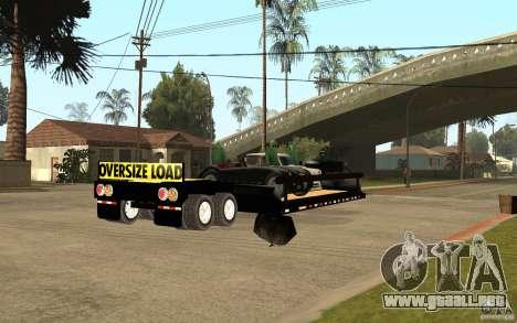 Trailer lowboy transport para la visión correcta GTA San Andreas