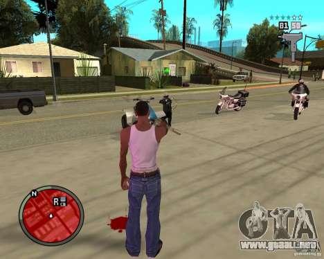 GTA IV HUD para GTA San Andreas tercera pantalla