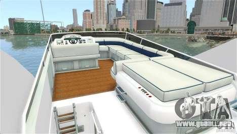Luxury Yacht para GTA 4 visión correcta