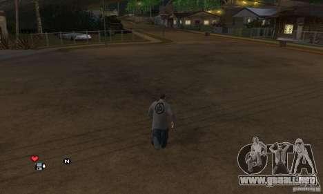 Beta v0.1 suéter Linkin Park para GTA San Andreas segunda pantalla