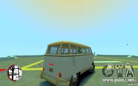 Volkswagen T1 Bus 1967 para GTA 4 visión correcta