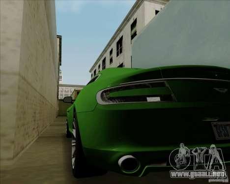 Aston Martin Rapide 2010 V1.0 para visión interna GTA San Andreas