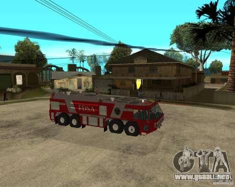 Rosenbauer Simba 8x8 GFLF FDSA para la visión correcta GTA San Andreas