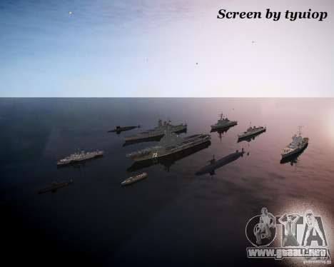 Marina de guerra para GTA 4 segundos de pantalla
