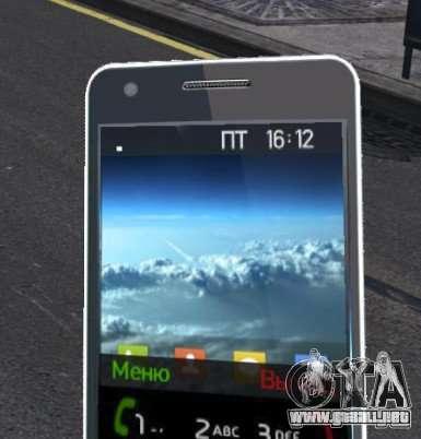 Samsung Galaxy S2 para GTA 4 quinta pantalla