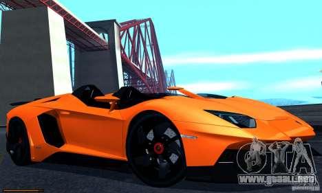 Lamborghini Aventador J para GTA San Andreas vista posterior izquierda