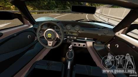 Lotus Exige S 2012 para GTA 4 vista hacia atrás