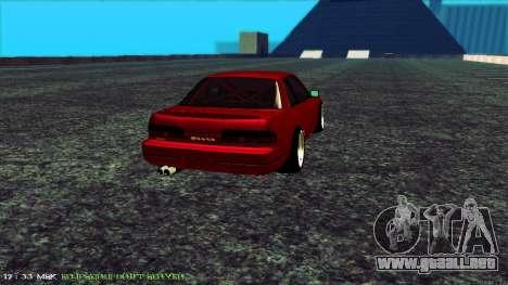 Nissan Onivia para GTA San Andreas vista posterior izquierda
