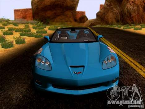 Chevrolet Corvette C6 Convertible 2010 para GTA San Andreas left