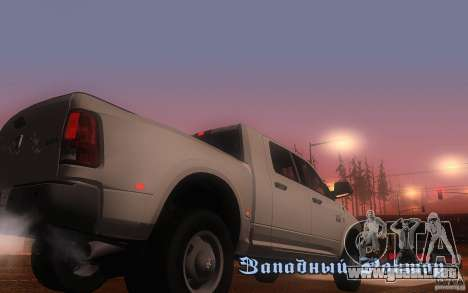 Dodge Ram 3500 Laramie 2010 para la visión correcta GTA San Andreas