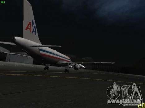 Airbus A320 para GTA San Andreas vista hacia atrás