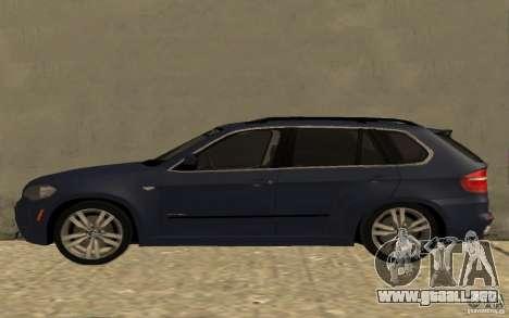 BMW X5 M 2009 para GTA San Andreas left