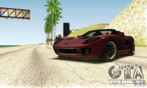 Ford GTX1 Roadster V1.0 para la vista superior GTA San Andreas