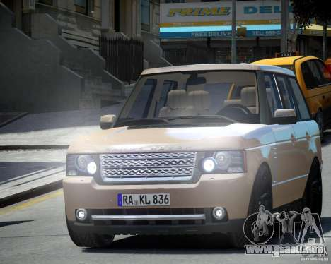 Land Rover SuperSharged para GTA 4 left