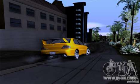 Mitsubishi Lancer Evolution IX 2006 para la vista superior GTA San Andreas