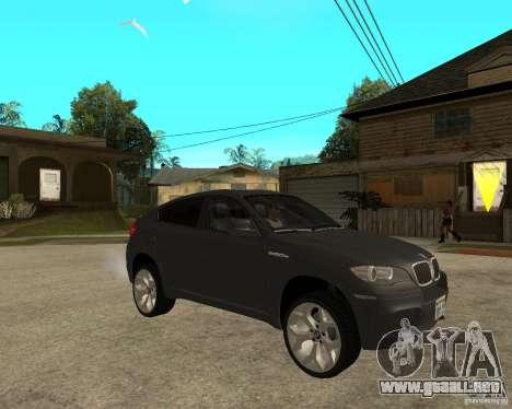 BMW X6 M para la visión correcta GTA San Andreas