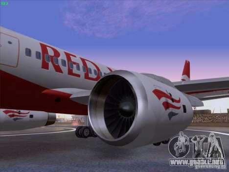 Tupolev Tu-204 Red Wings Airlines para la visión correcta GTA San Andreas