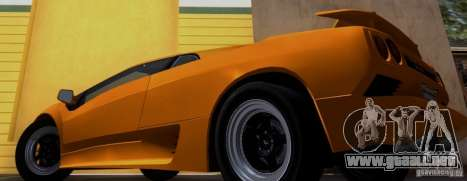 Lamborghini Diablo VTTT Black Revel para GTA San Andreas vista posterior izquierda