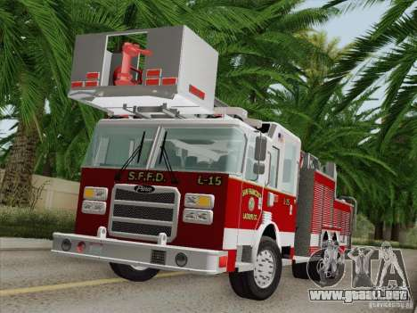 Pierce Aerials Platform. SFFD Ladder 15 para GTA San Andreas interior