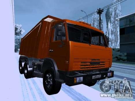 KAMAZ 54115 camión para GTA San Andreas vista hacia atrás