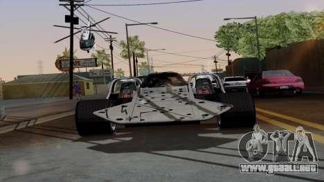 Tirón auto de Furious 6 para GTA San Andreas vista hacia atrás