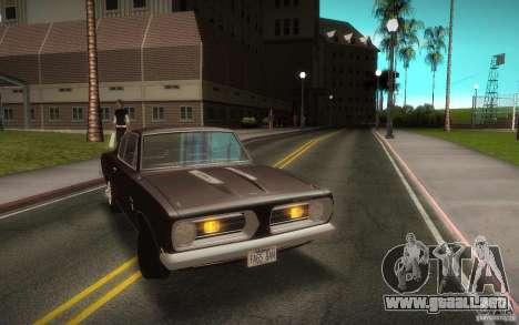 Plymouth Barracuda Formula S para la visión correcta GTA San Andreas