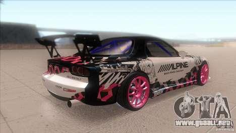 Mazda RX-7 FD K.Terej para la visión correcta GTA San Andreas