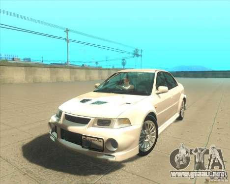Mitsubishi Lancer Evolution VI 1999 Tunable para la visión correcta GTA San Andreas