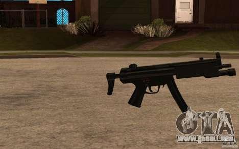 Nuevo MP5 con linterna para GTA San Andreas segunda pantalla