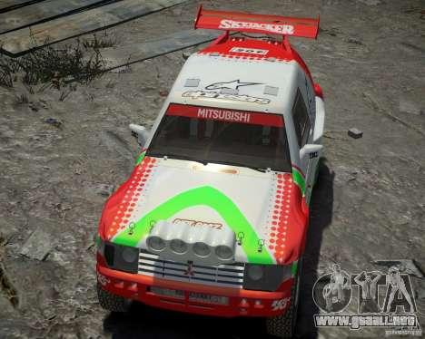 Mitsubishi Pajero Proto Dakar EK86 vinilo 2 para GTA 4 vista lateral