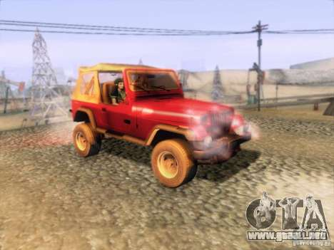 Jeep Wrangler 1994 para la visión correcta GTA San Andreas