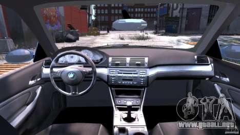 BMW M3 E46 Tuning 2001 para GTA 4 visión correcta