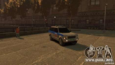 Land Rover Range Rover Police para GTA 4 visión correcta