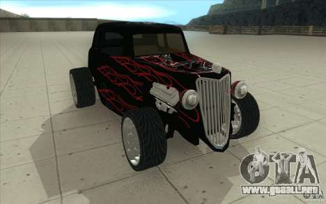 Ford Hot Rod 1934 v2 para GTA San Andreas vista hacia atrás