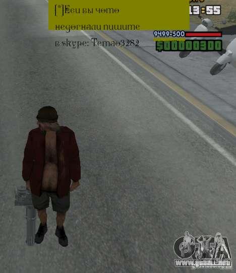 Weapon hacks para GTA San Andreas sucesivamente de pantalla