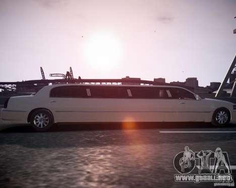 Lincoln Town Car Limousine para GTA 4 visión correcta