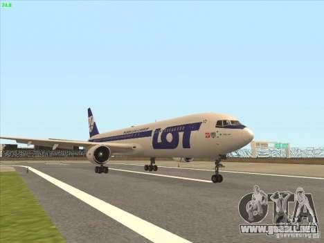 Boeing 767-300 LOT Polish Airlines para GTA San Andreas left