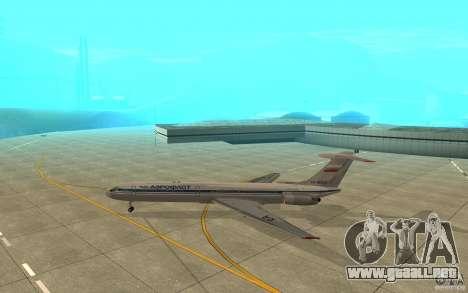 Aeroflot Il-62 m para GTA San Andreas vista posterior izquierda
