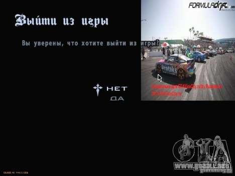Fórmula menú estilo Drift para GTA San Andreas