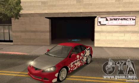 Acura RSX New para GTA San Andreas interior