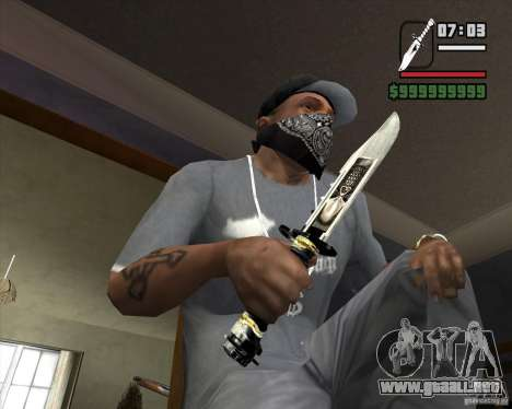 El cuchillo de Nº 5 de la acosadora para GTA San Andreas