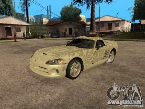 Dodge Viper para la vista superior GTA San Andreas