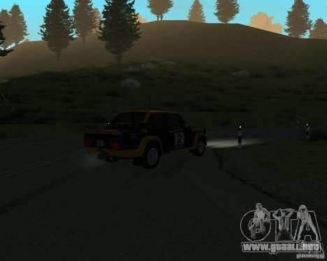Fiat 131 Rally para visión interna GTA San Andreas