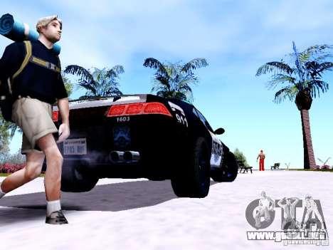 NFS Undercover Cop Car MUS para GTA San Andreas vista posterior izquierda