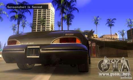 New Banshee [HD] para GTA San Andreas vista hacia atrás