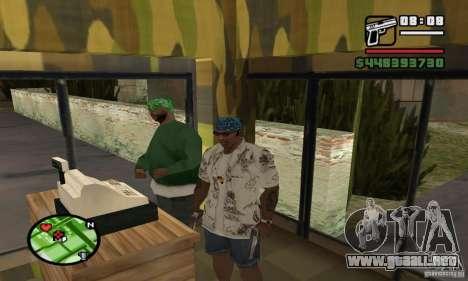 Tienda de armas en Grove para GTA San Andreas segunda pantalla